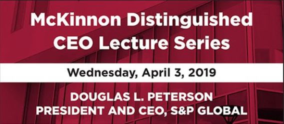 McKinnon Distinguished CEO Lecture Series with Doug Peterson