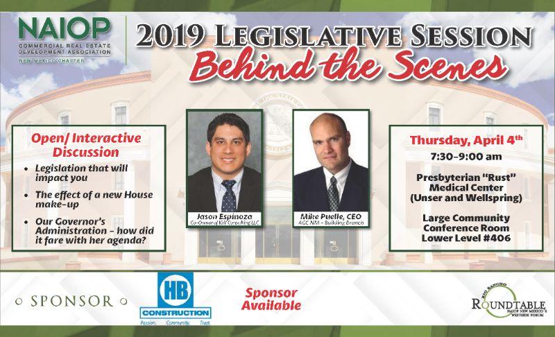 "NAIOP RRRT - Behind The Scenes ""2019 Legislative Session"""