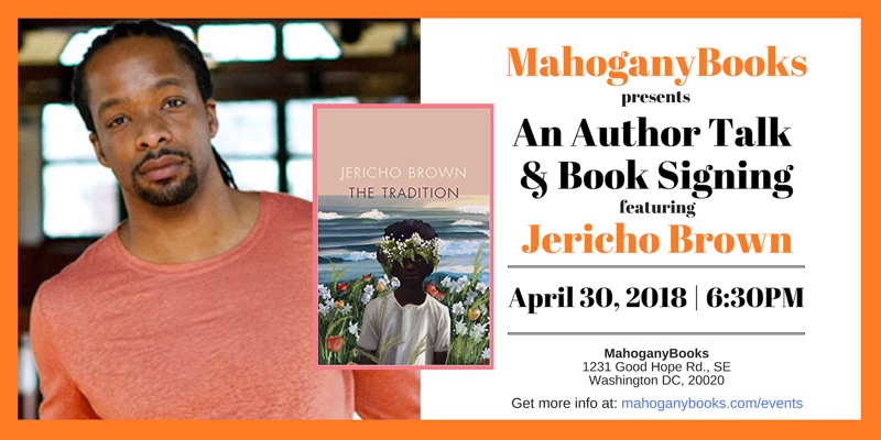 A Poetry Reading & Book Signing featuring Jericho Brown