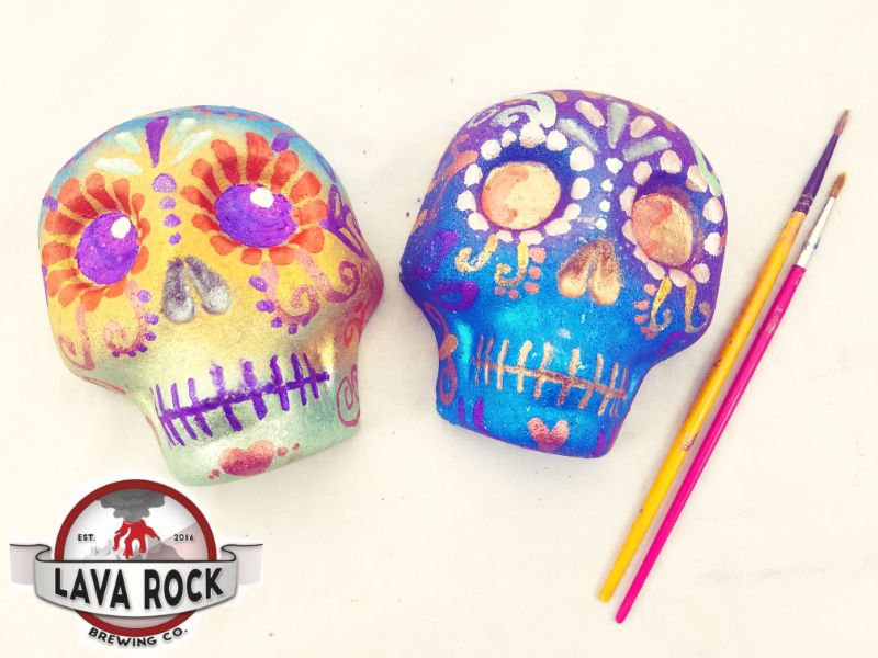 Paint Sugar Skull Bath Bombs at Lava Rock Brewing
