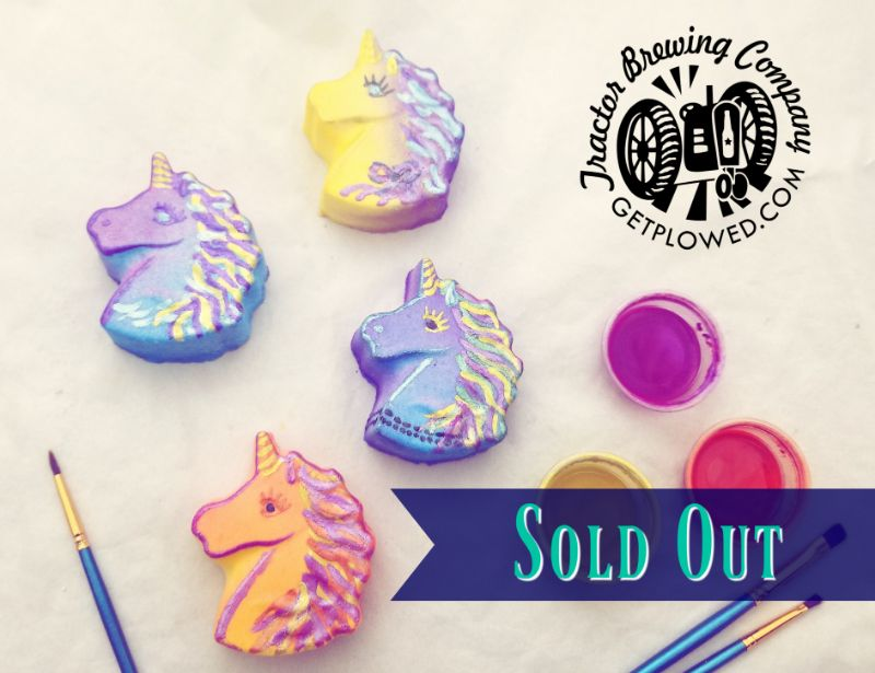 Paint Unicorn Bath Bombs at Tractor Brewing