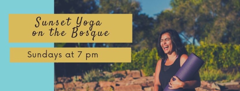 Sunset Yoga on the Bosque