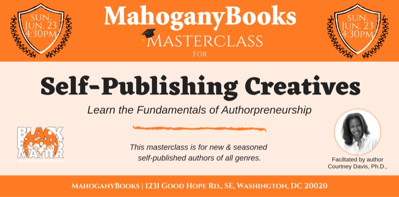MahoganyBooks Masterclass for Self-Publishing Creatives