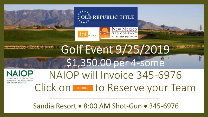 Golf Event on 09/25/19  Sandia Resort. Reserve your 4-some Today