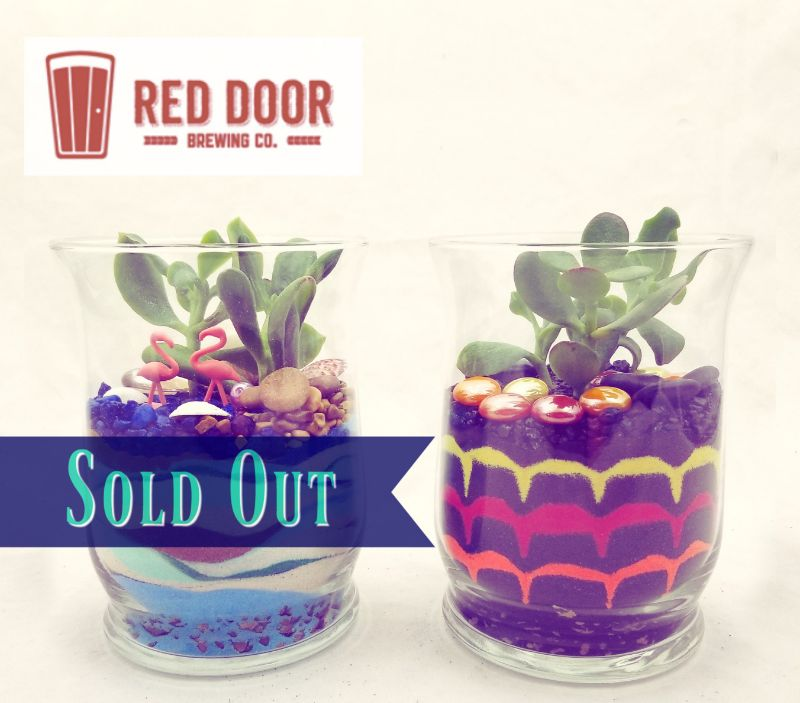 Sand Art & Succulents at Red Door Brewing
