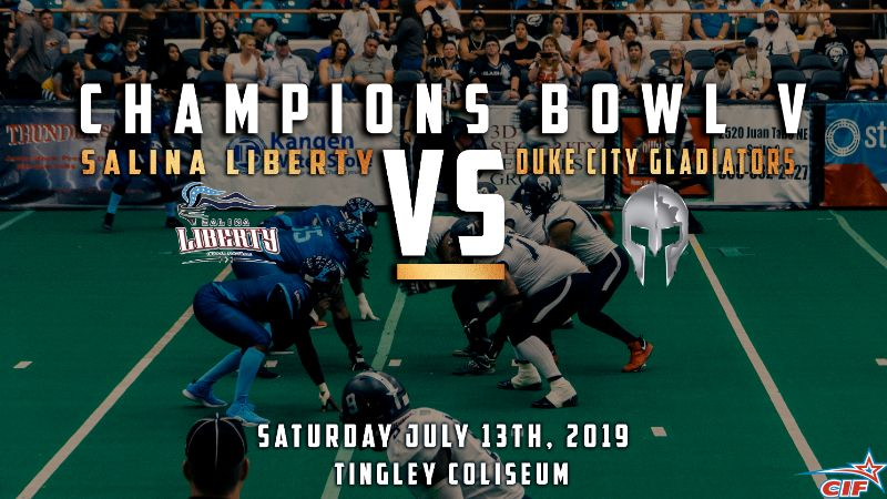 CIF Champions Bowl V Salina Liberty Vs. Duke City Gladiators