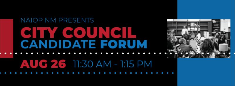 ABQ CITY COUNCIL CANDIDATE FORUM | 11: 45 Luncheon Aug. 26th.