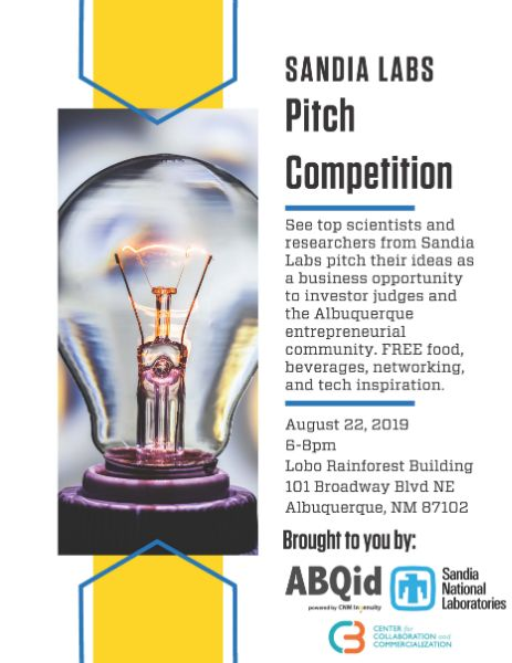 Sandia Labs Pitch Competition 2019