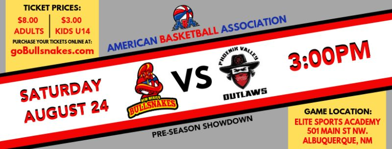 New Mexico Bullsnakes vs Phoenix Valley Outlaws