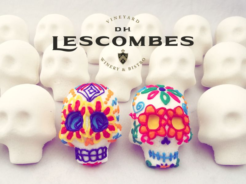 Decorate Traditional Sugar Skulls at DH Lescombes Winery