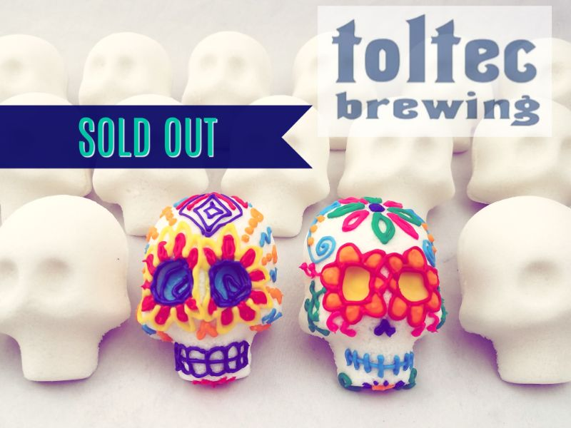 Decorate Traditional Sugar Skulls at Toltec Brewing