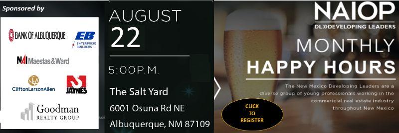 NAIOP Developing Leaders Happy Hour August 22nd at Salt Yard