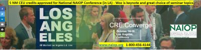 NAIOP National Conference, October 15-17 Los Angeles, CA
