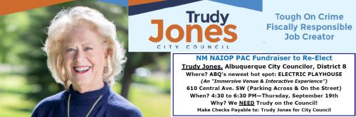 Re-Elect Trudy Jones, Albuquerque City Councilor, Dist. 8