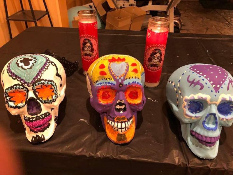 Holloween Skull Paint Night