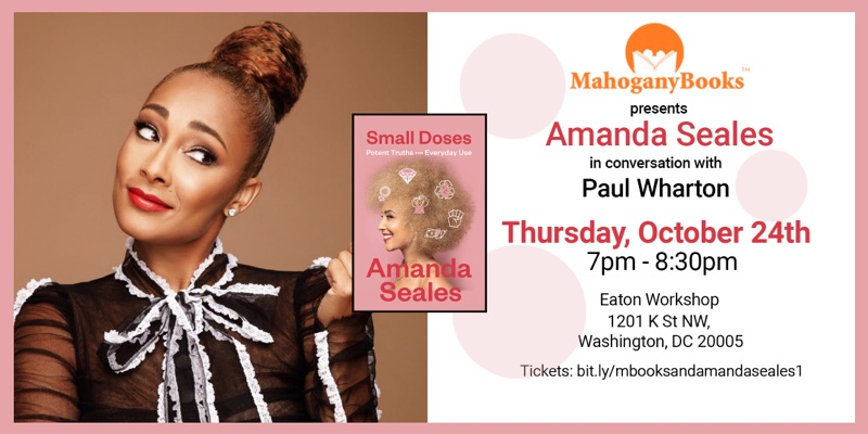 MahoganyBooks presents:  Amanda Seales Author Talk & Booksigning