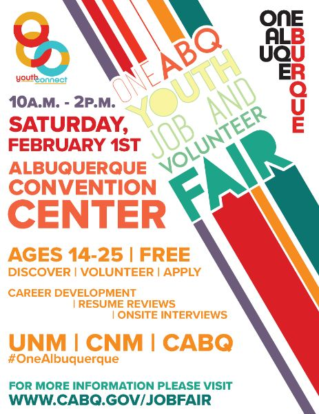 2020 One ABQ Youth Job and Volunteer Fair