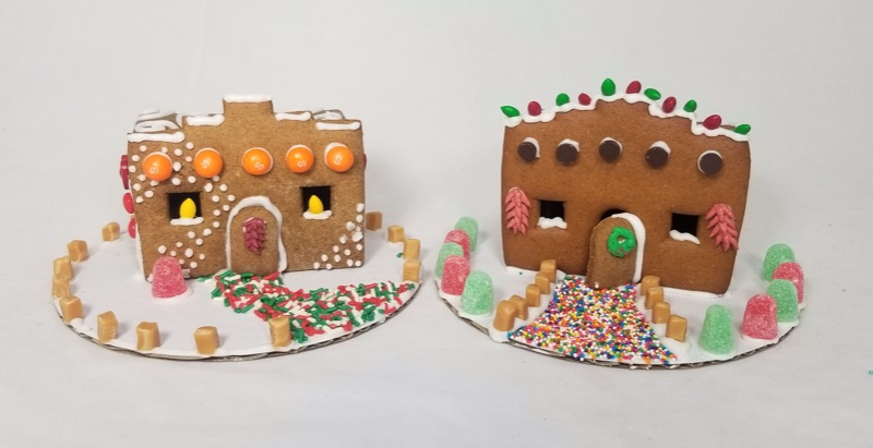 Make your own Adobe Gingerbread House at Wine Therapy