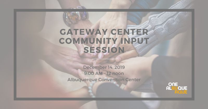 Gateway Center Community Input Session
