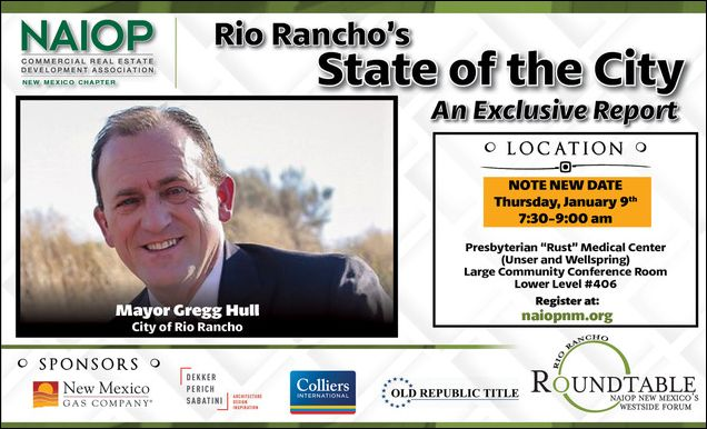 """Rio Rancho State of the City """"An Exclusive Report"""" Mayor Hull"""