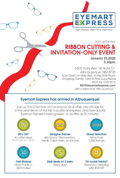 EYEMART EXPRESS GRAND OPENING EVENT & RIBBON CUTTING