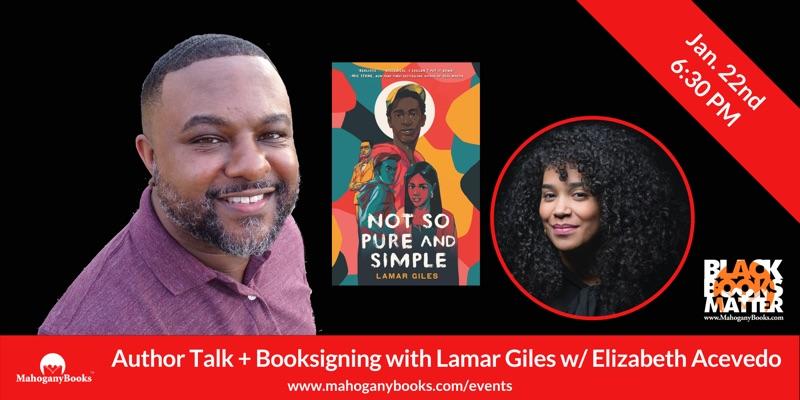 An Author Talk & Book Signing Featuring Lamar Giles