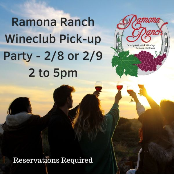 Spring WineClub Pick-up Party - Saturday, 2/8/2020