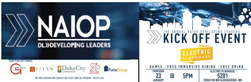 NAIOP DL ANNUAL KICK OFF | Jan 23rd at 5 PM - Electric Playhouse