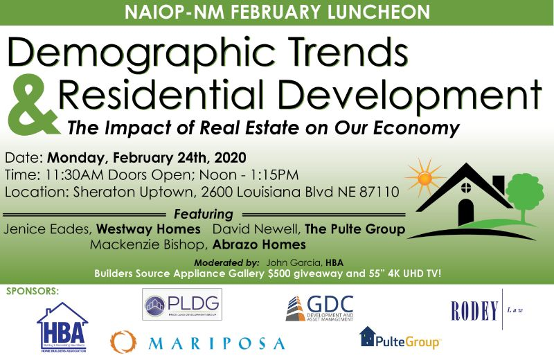 Demographic Trends & Residential Development | Feb 24 NAIOP Lunch