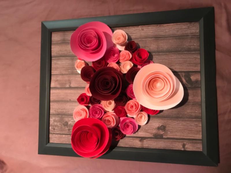 Paper Flower Frame