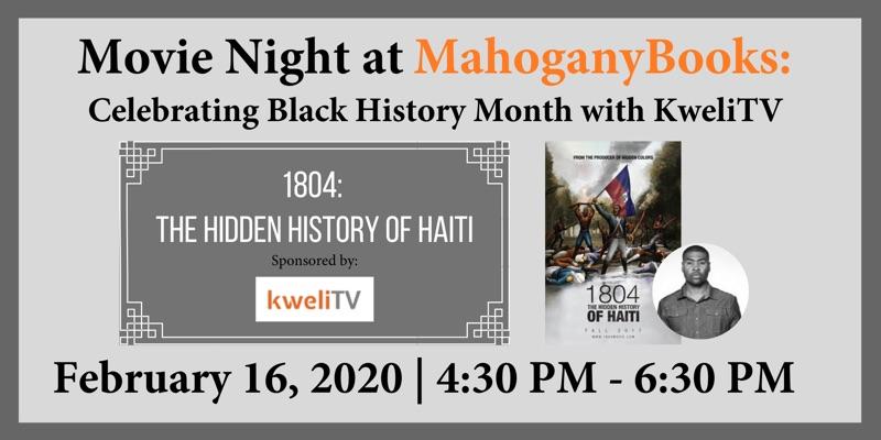 Movie Night at MahoganyBooks with KweliTV