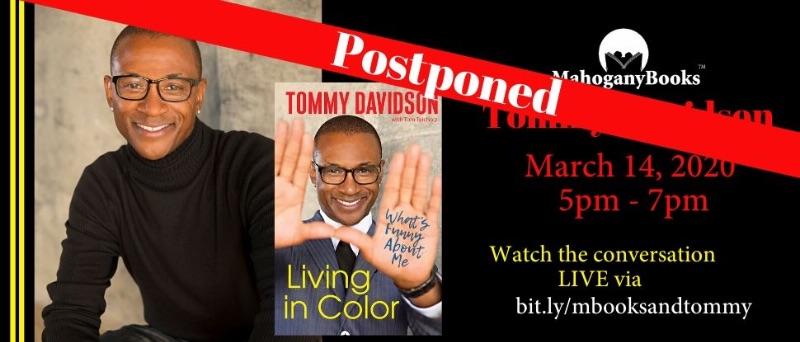 MahoganyBooks Presents: Tommy Davidson Discussion + Book Signing