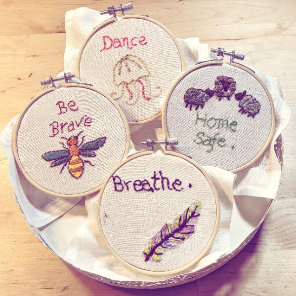 Virtual Craft Party - Stitching through June 4 weeks, 4 classes