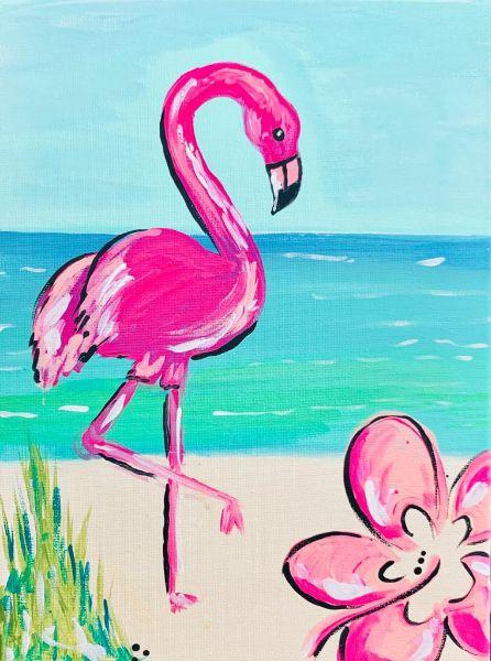 Creative Art Kit- Flamingo painting!