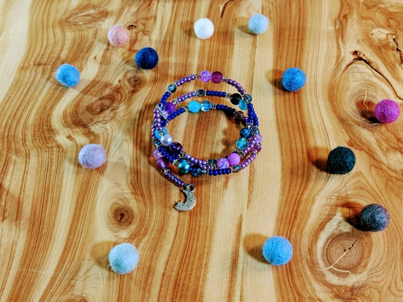 Virtual Craft Party - Moon and Stars Bracelet