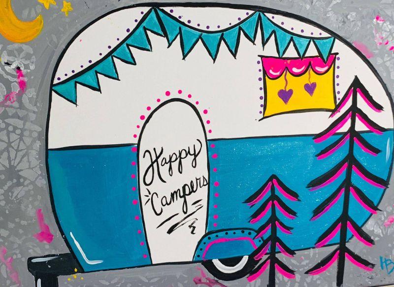 Happy Camper Online Paint Nite!