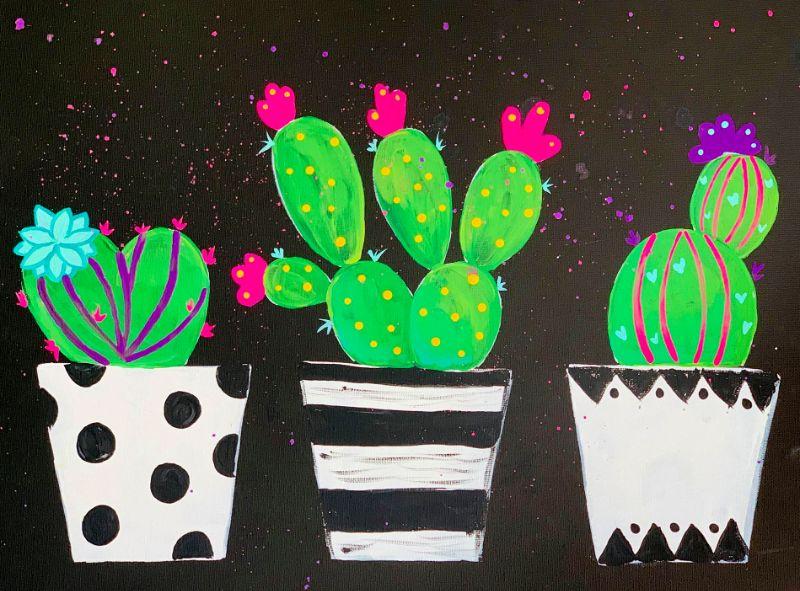 Cactus Fun Online Paint Party!