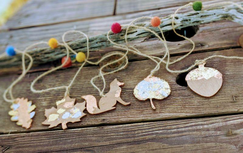 Virtual Craft Party - Gold Leaf Garlands