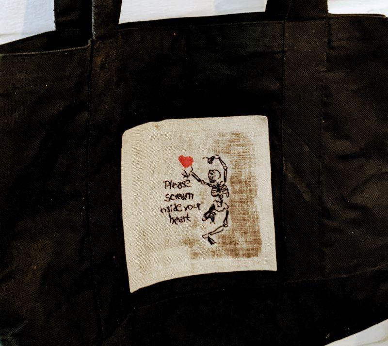 Virtual Craft Party - Please Scream Tote Bag