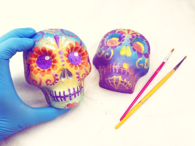 SPECIAL EVENT - Virtual Craft Party - Sugar Skull Bath Bombs