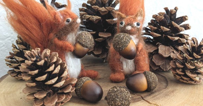 Virtual Craft Party - Needle Felted Squirrel