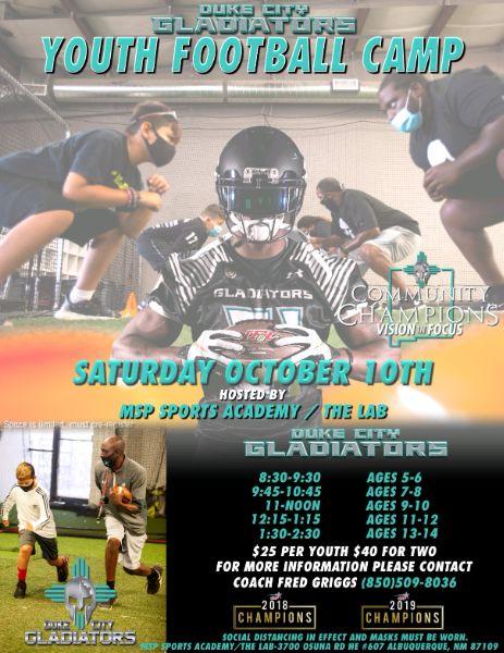 Duke City Gladiators Youth Camp
