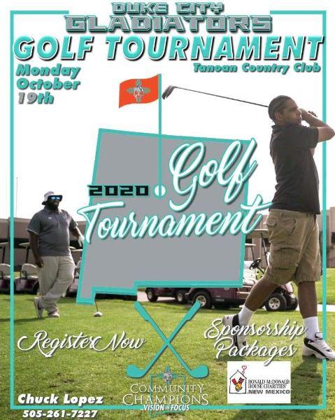 Duke City Gladiators Golf Tournament