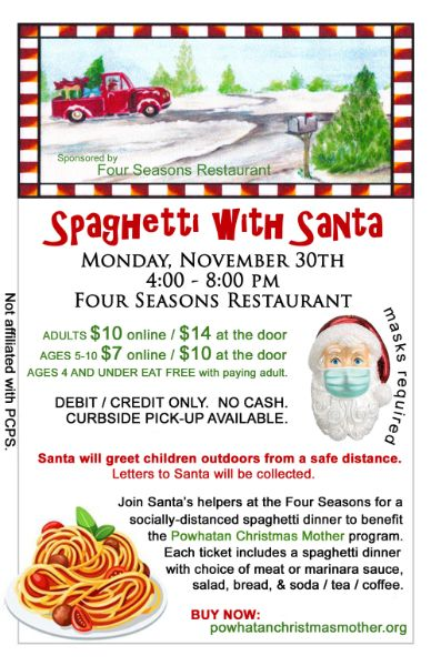 Spaghetti with Santa