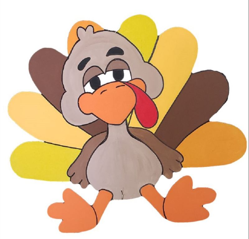 Goofy Turkey Door Hanger-ONLINE event