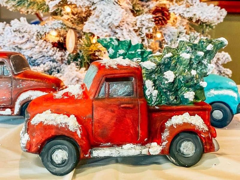 Vintage Truck and Tree- ONLINE event