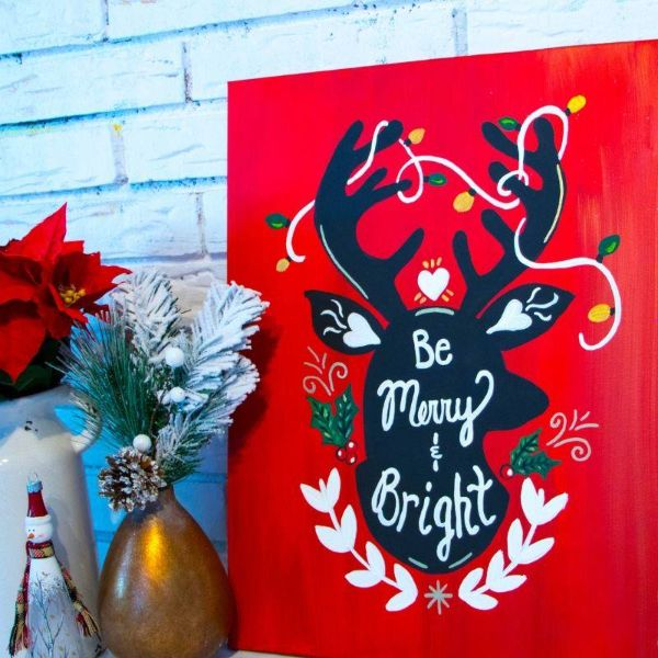 Merry and Bright!-ONLINE paint party!
