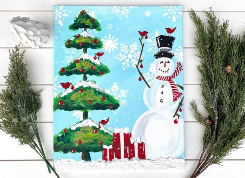 Snow much Fun!-ONLINE Paint Party!