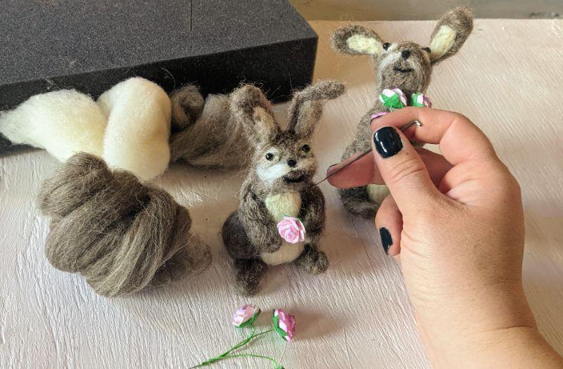 Virtual Craft Party - Needlefelt  Bunny!
