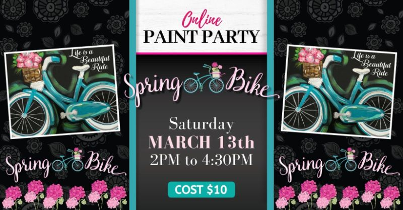 Spring Bike- Online Paint Party